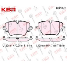 KB1892   -   Brake Pad