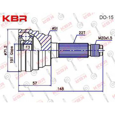 DO15   -   OUTBOARD C V JOINT