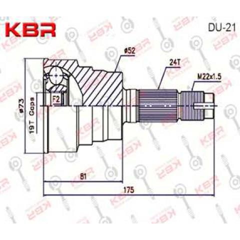 DU21   -   OUTBOARD C V JOINT