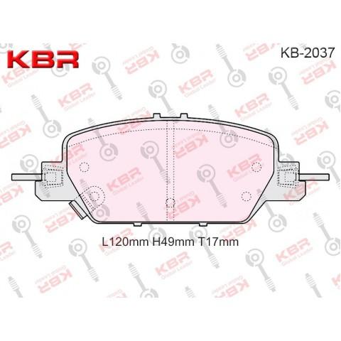 KB2037   -   Brake Pad