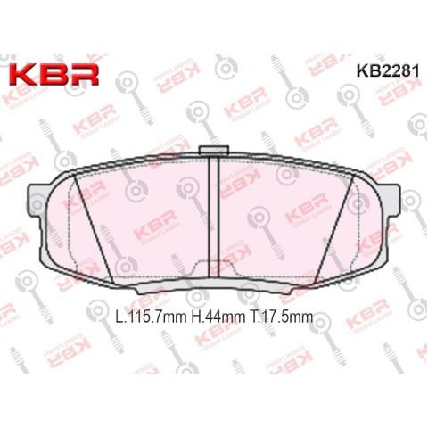 KB2281   -   Brake Pad