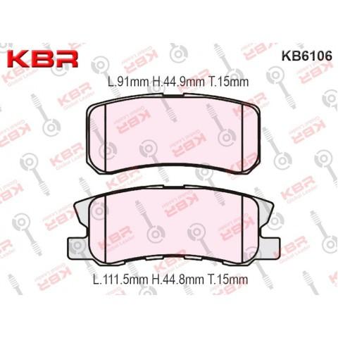 KB6106 – Brake Pad