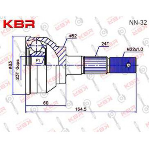 NN32   -   OUTBOARD C V JOINT