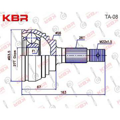 TA08   -   OUTBOARD C V JOINT