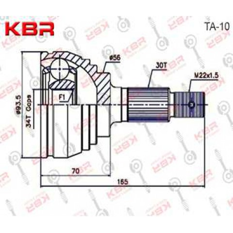 TA10 -  OUTBOARD C V JOINT