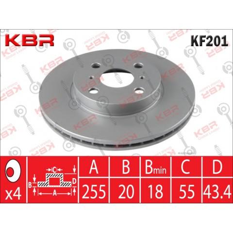 KF201   -   BRAKE DISC  FRONT