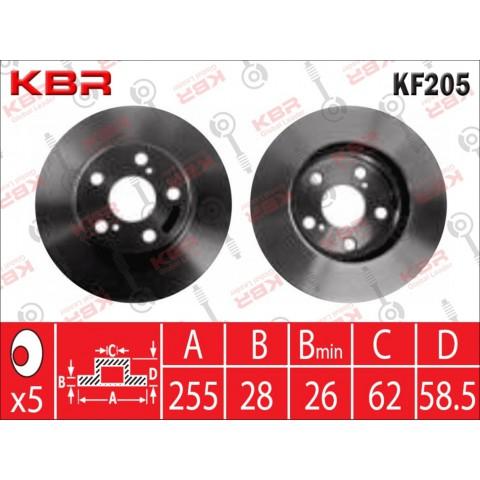KF205   -   BRAKE DISC