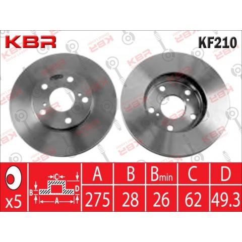 KF210   -   BRAKE DISC