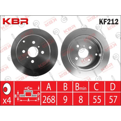 KF212   -   BRAKE DISC REAR