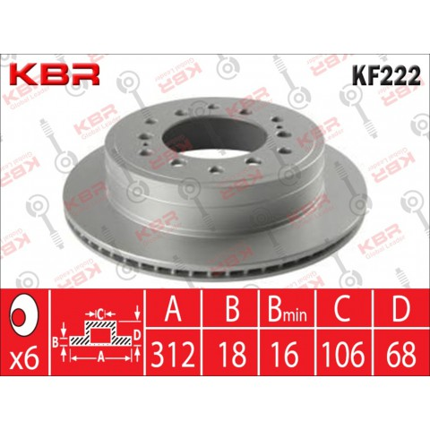 KF222   -   BRAKE DISC