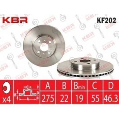 KF202   -   BRAKE DISC FRONT