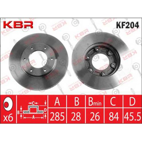 KF204   -   BRAKE DISC