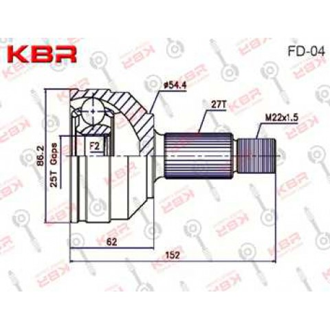 FD04 – OUTBOARD C V JOINT