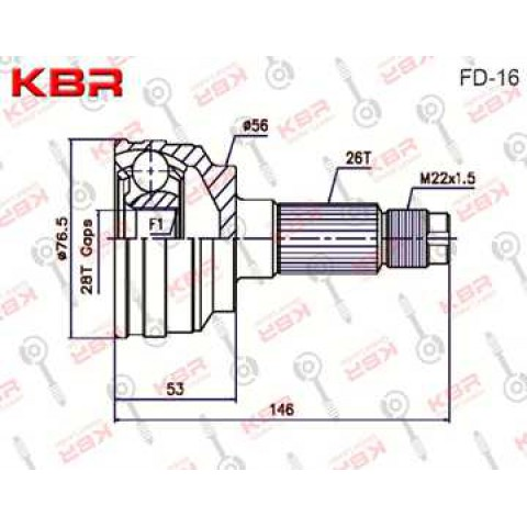 FD16   -   OUTBOARD C V JOINT
