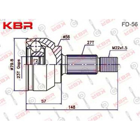 FD56   -    OUTBOARD C V JOINT