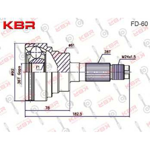 FD60 – OUTBOARD C V JOINT