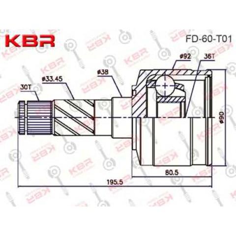 FD60T01   -   INNER CV JOINT