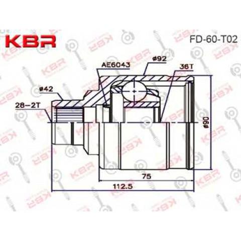 FD60T02   -   INNER CV JOINT