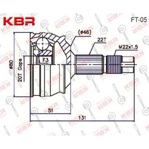 FT05   -   OUTBOARD C V JOINT