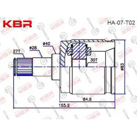 HA07T02   -   INNER CV JOINT