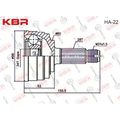 HA22   -   OUTBOARD C V JOINT