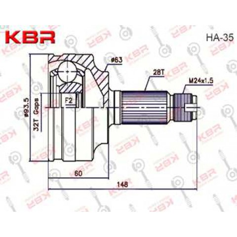 HA35   -   OUTBOARD C V JOINT