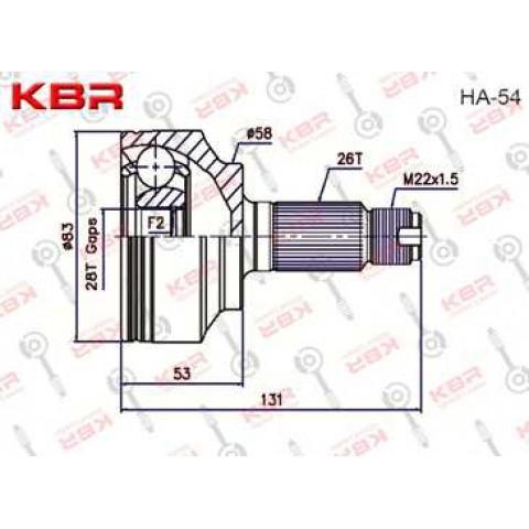 HA54   -   OUTBOARD C V JOINT