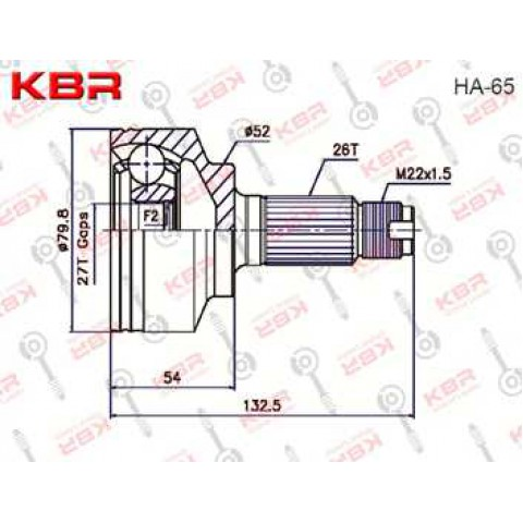 HA65   -   OUTBOARD C V JOINT