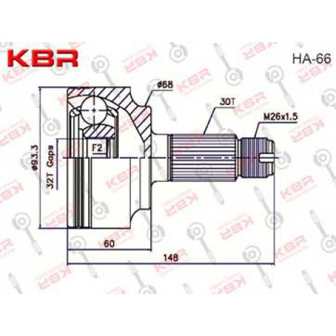HA66   -   OUTBOARD C V JOINT
