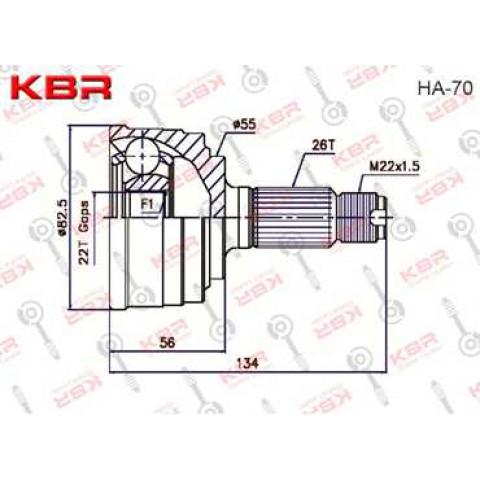 HA70   -   OUTBOARD C V JOINT