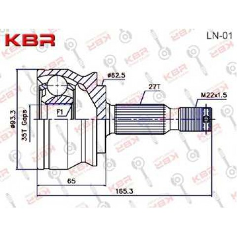 LN01   -   OUTBOARD C V JOINT