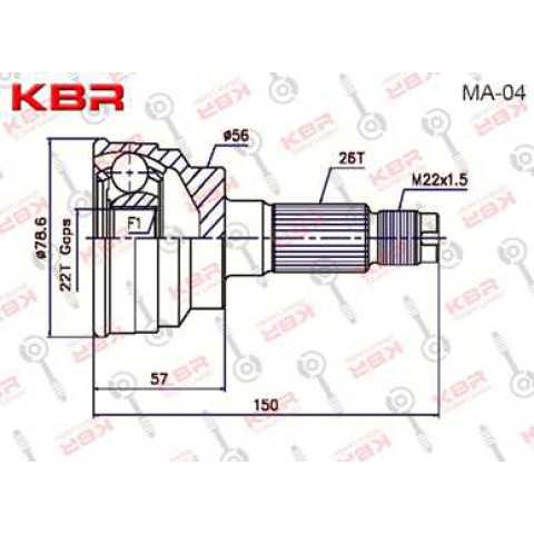 MA04   -   OUTBOARD C V JOINT