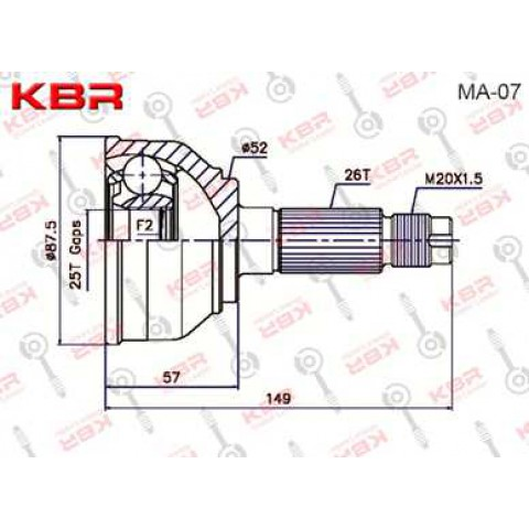 MA07   -   OUTBOARD C V JOINT