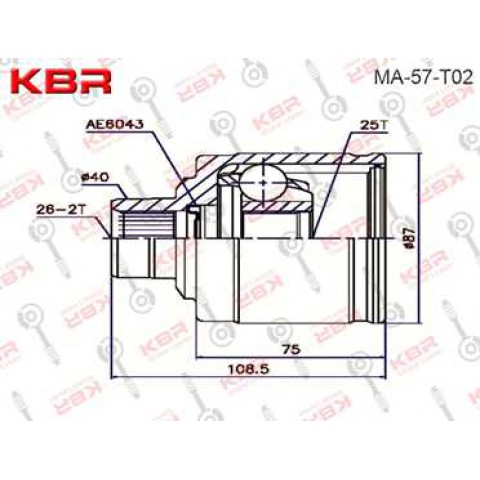 MA57T02   -   INNER CV JOINT