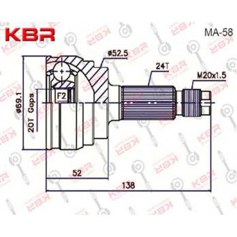 MA58   -   OUTBOARD C V JOINT
