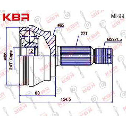 MI99   -   OUTBOARD C V JOINT