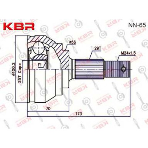 NN65   -   OUTBOARD C V JOINT