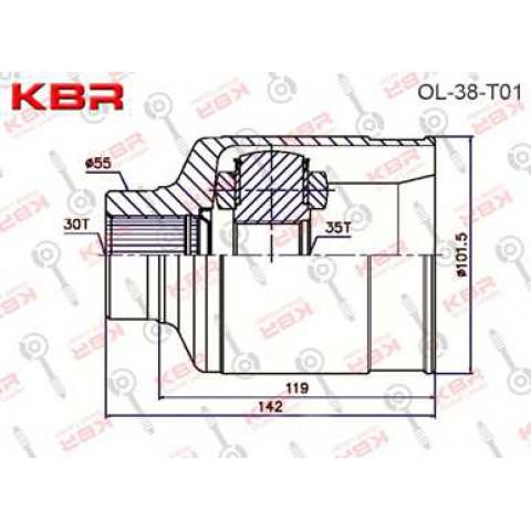 OL38T01   -   INNER CV JOINT