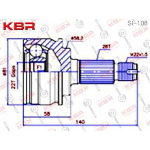 SI108   -   OUTBOARD C V JOINT