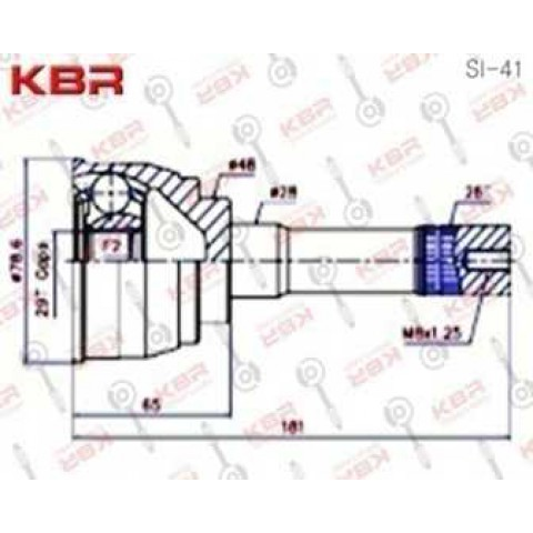 SI41   -   OUTBOARD C V JOINT