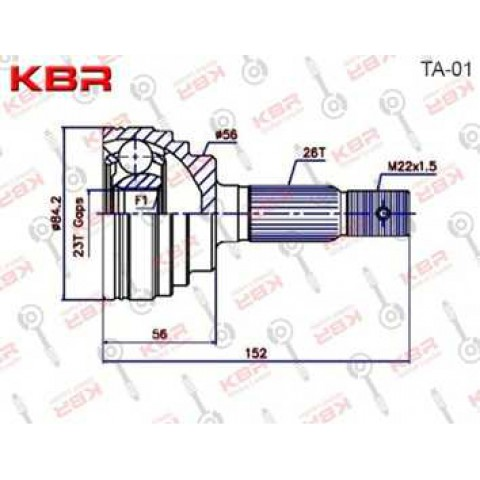 TA01   -   OUTBOARD C V JOINT