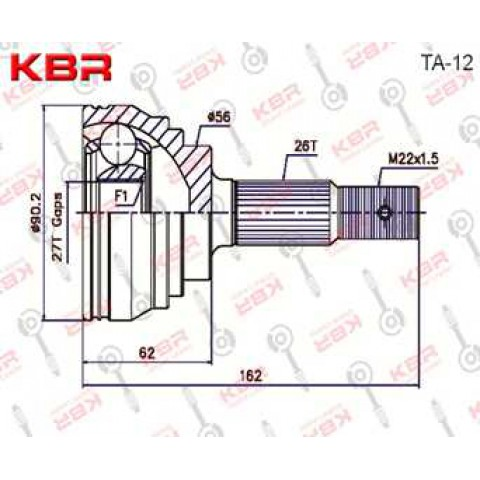 TA12   -   OUTBOARD C V JOINT