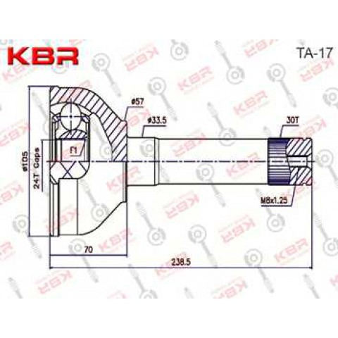 TA17   -   OUTBOARD C V JOINT