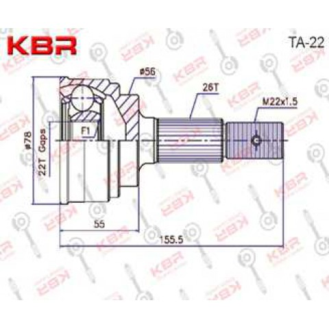 TA22   -   OUTBOARD C V JOINT