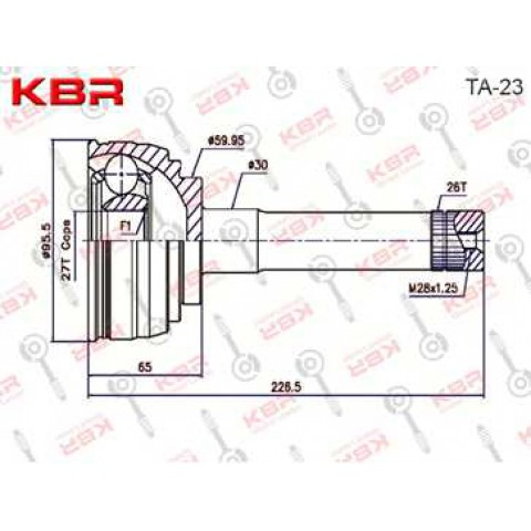TA23    -   OUTBOARD C V JOINT