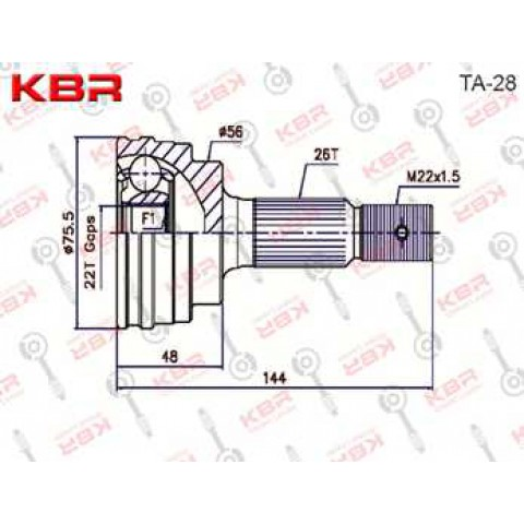 TA28   -   OUTBOARD C V JOINT