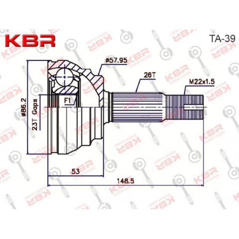 TA39   -   OUTBOARD C V JOINT
