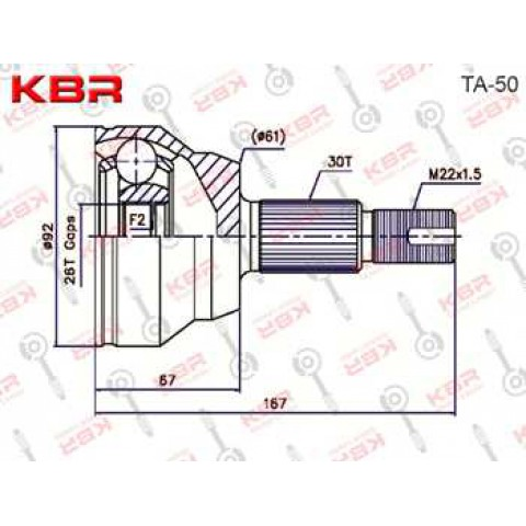 TA50   -   OUTBOARD C V JOINT