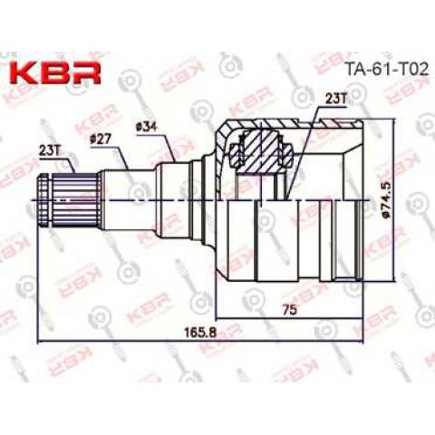 TA61T02   -   INNER CV JOINT