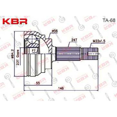 TA68   -   OUTBOARD C V JOINT